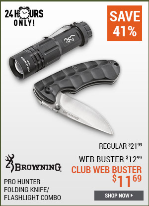 Browning Pro Hunter Folding Knife/Flashlight Combo