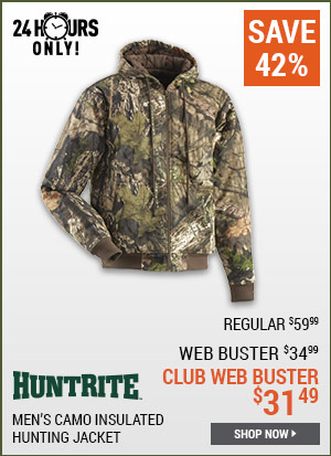 HuntRite Men's Camo Insulated Hunting Jacket