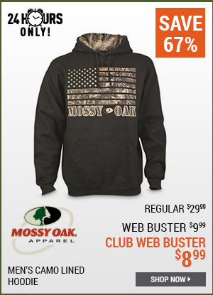 Mossy Oak Men's Camo Lined Hoodie