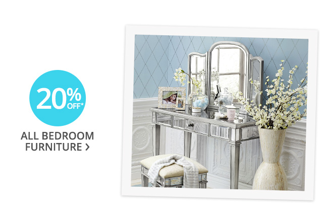 20% off all bedroom furniture