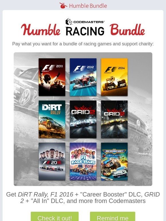 Humble Bundle: Start your engines with the Humble