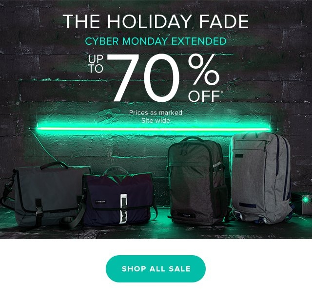 The Holiday Fade - Cyber Monday Extended Up To 70% Off* Prices as marked. Site wide.  Shop All Sale