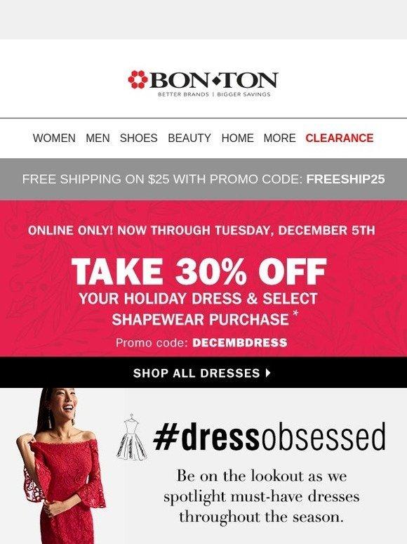 761f85ea739 Bonton  30% off Holiday Dresses   select Shapewear (Online Only ...