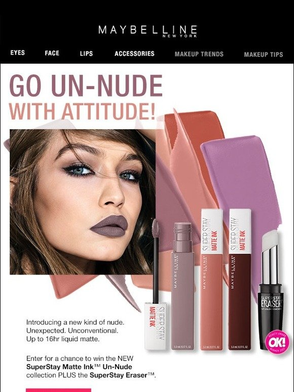 Maybelline New Superstay Matte Ink Un Nudes Enter For A