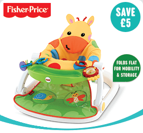 Fisher-Price Giraffe Sit Me Up Floor Seat with Tray
