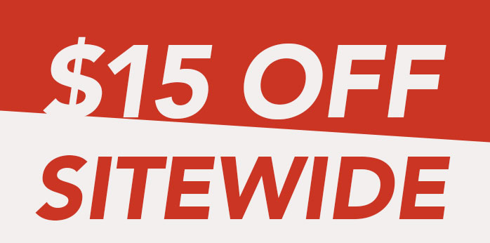 $15 OFF SITEWIDE