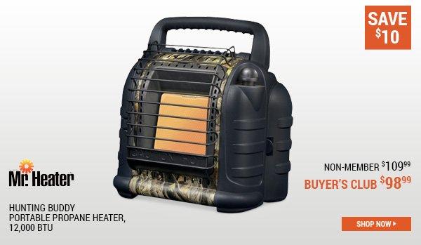 Mr Heater Hunting Buddy Portable Propane Heater, 12,000 BTU