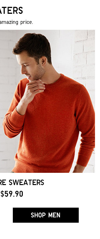 SWEATERS - 100% Cashmere Sweaters - From $59.90 - Shop Men