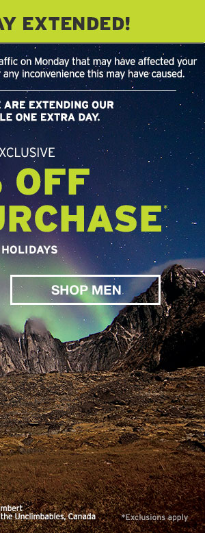 50% OFF YOUR PURCHASE | SHOP MEN