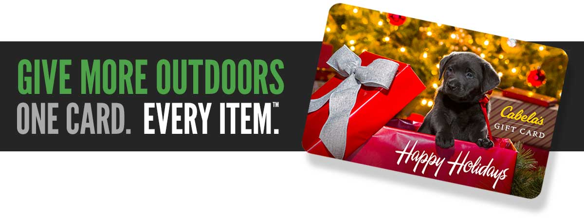 Give More Outdoors. One Card. Every Item.