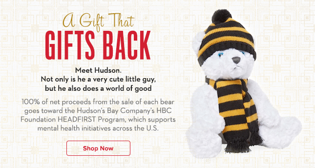 Hudson the Bear | 100% of net proceeds go to HEADFIRST program