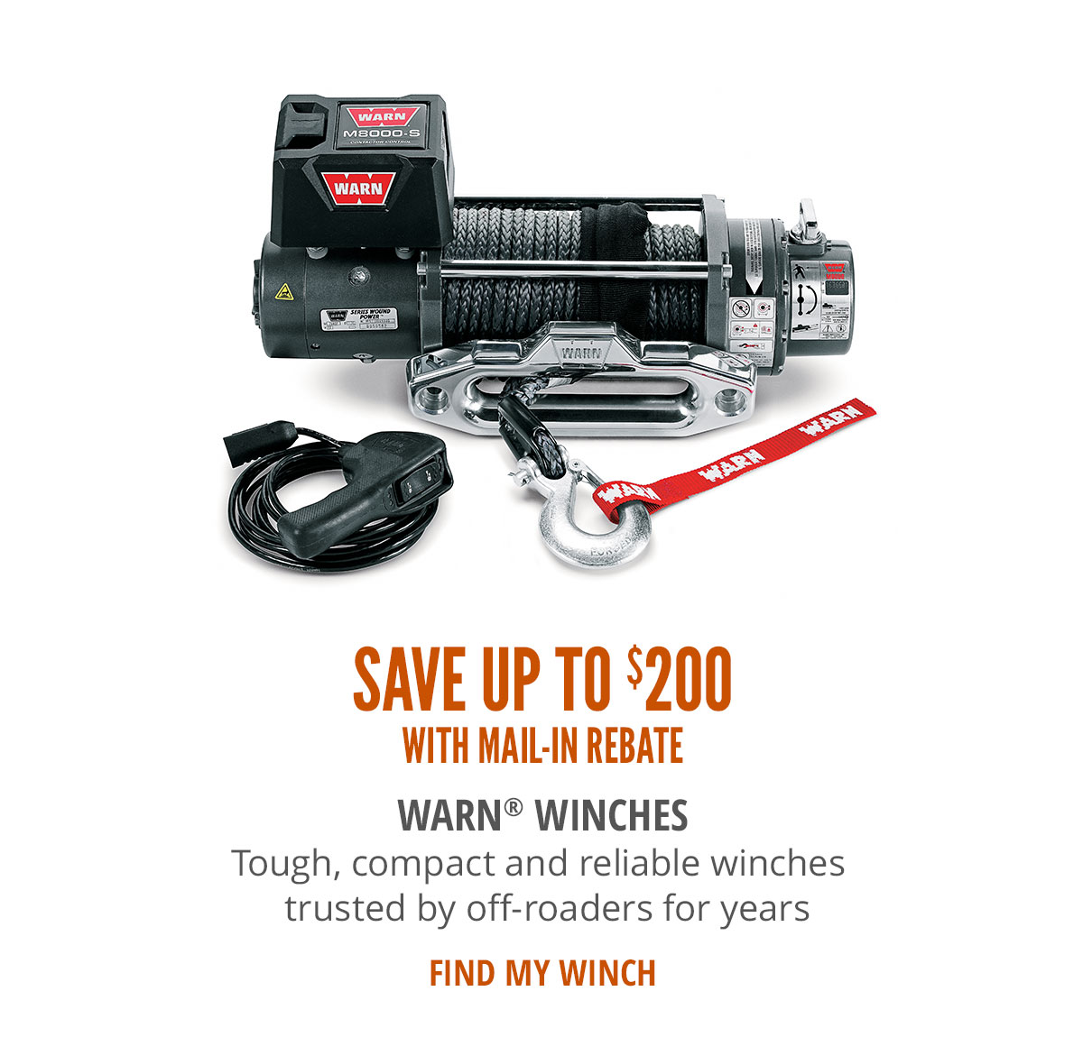Save Up To $200 With Mail-in Rebate Warn Winches