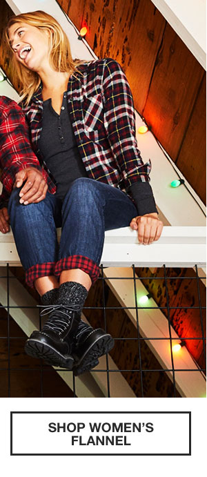 50% OFF YOUR PURCHASE | SHOP WOMEN'S FLANNEL