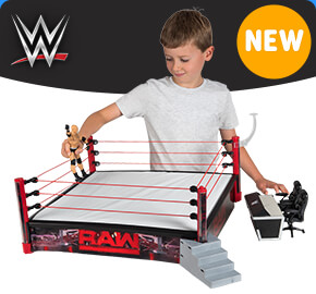 WWE Elite Authentic Scale Raw Playset with Goldberg Figure