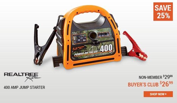 Realtree Xtra 400 Amp Jump Starter