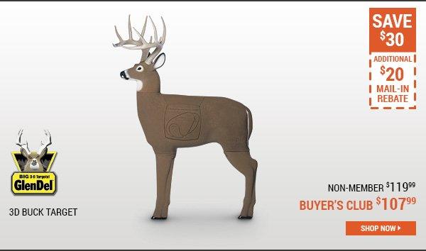 The GlenDel 3D Buck Target
