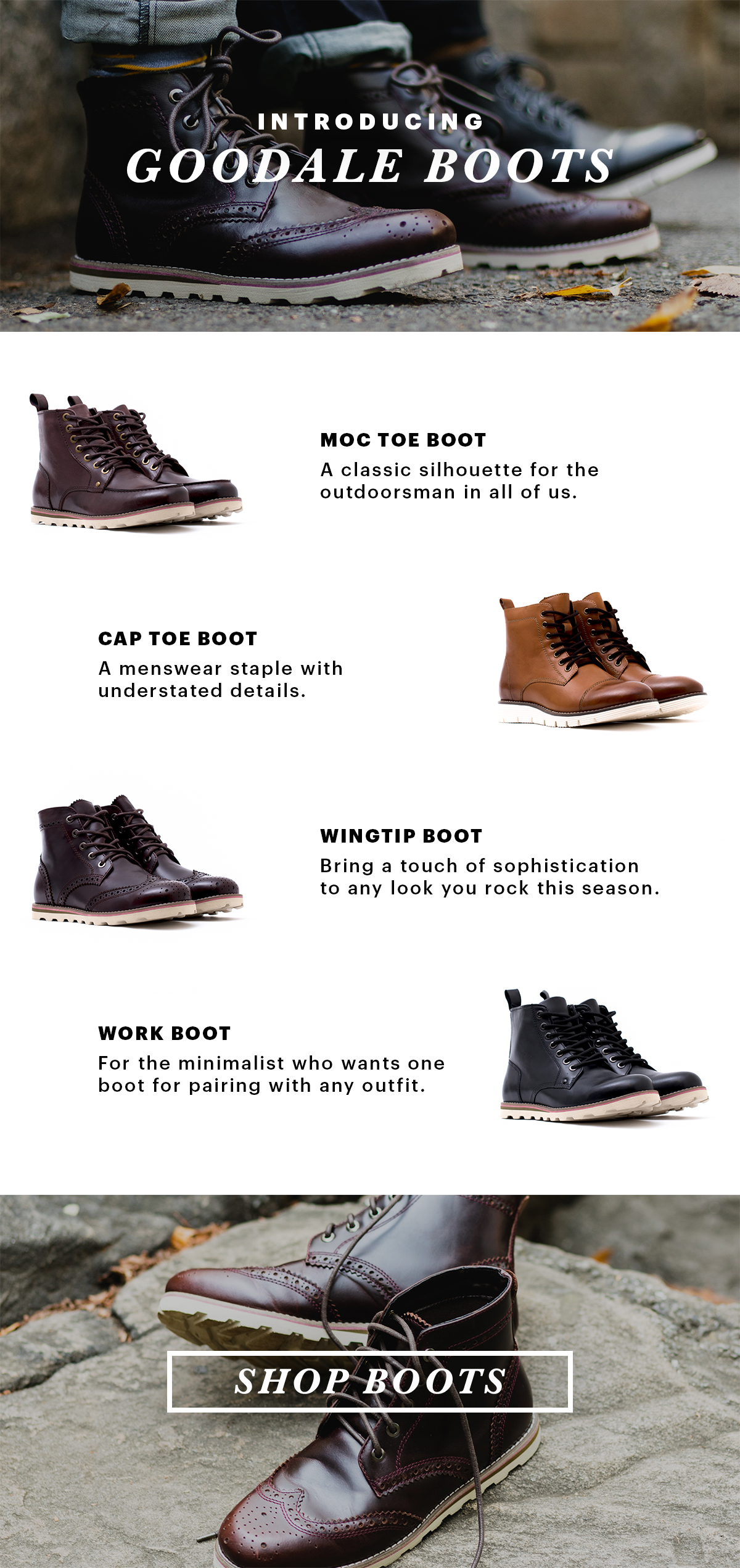 Boot Up! Introducing Goodale Boots