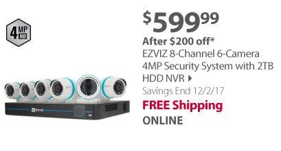 EZVIZ 8-Channel 6-camera