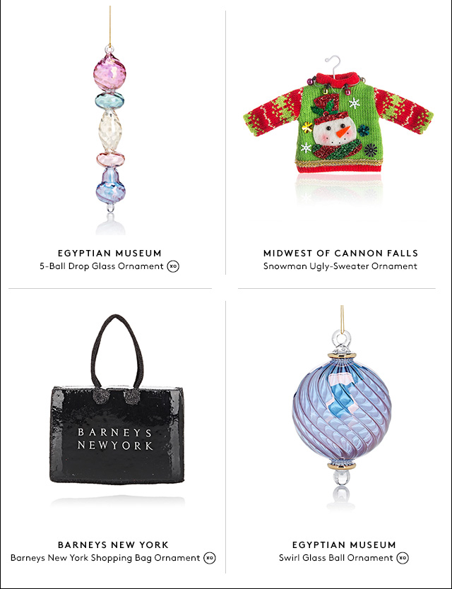 Ornaments so beautiful you'll want to keep them out all year long.