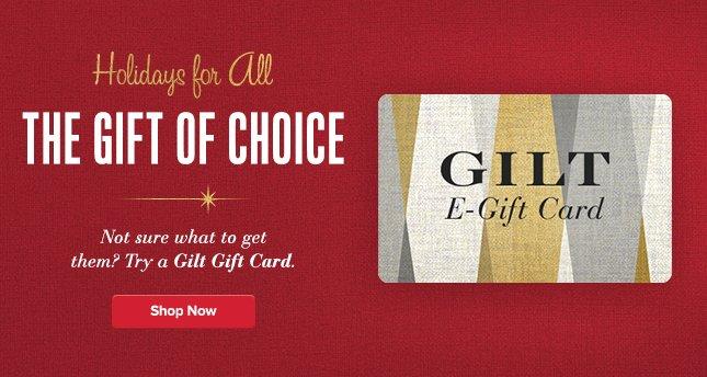 Gilt Gift Card. Shop Now.