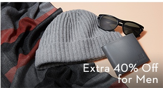 Extra 40% Off for Men