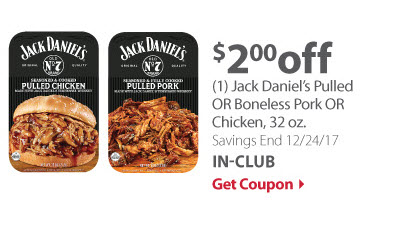 Jack Daniel's Pulled pork or chicken