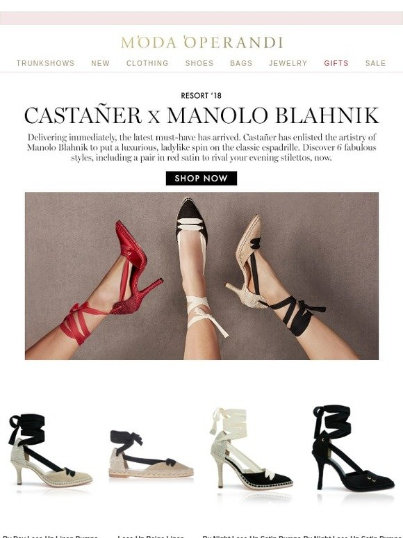 e6e6c16cf521d Moda Operandi: Castañer x Manolo Blahnik: shop the dream collaboration now  | Milled