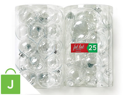 Fab Lab 25-pc Clear Ornament Tubes.