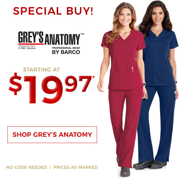 Life Uniform Special Buy Greys Anatomy Starting As Low As 1997