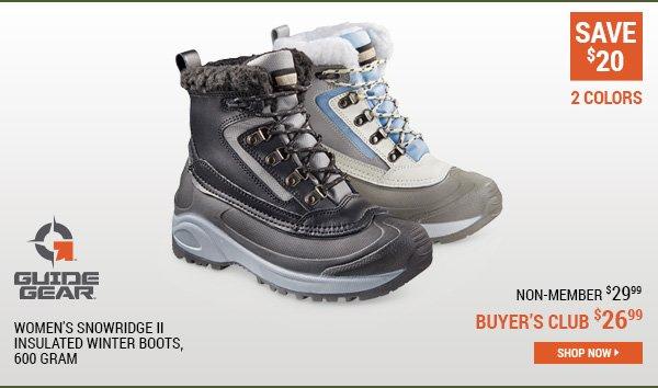 Guide Gear Women's Snowridge II Insulated Winter Boots, 600 Gram