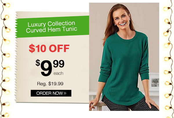 Luxury Collection Curved Hem Tunic