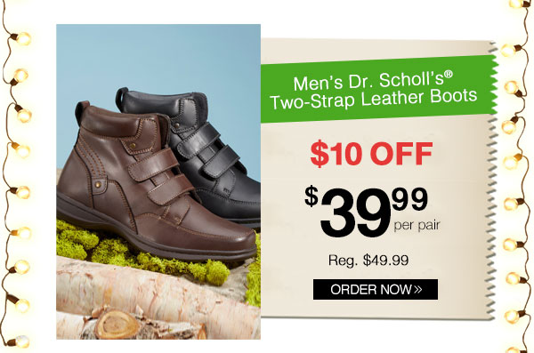 Dr. Scholl's Two-Strap Leather Boots