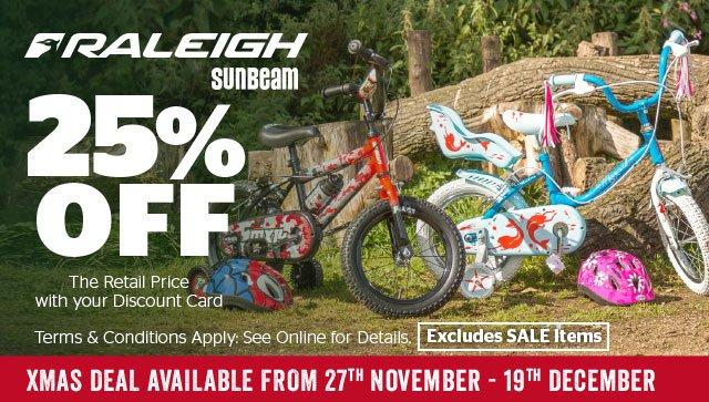 25% Off Raleigh Sunbeam