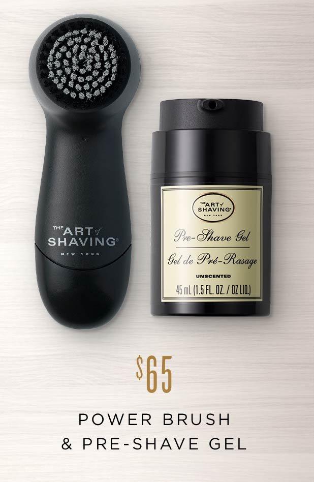 Power Brush & Pre-Shave Gel
