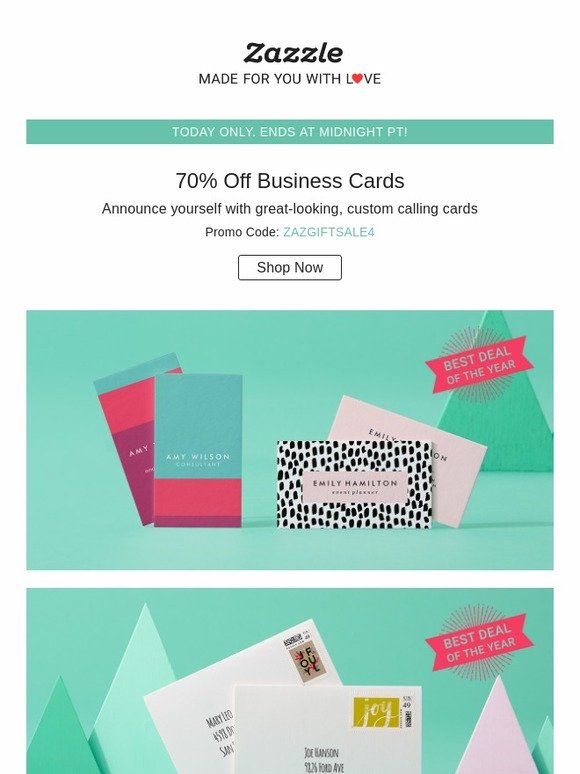 Zazzle 70 off business cards today only milled reheart Images