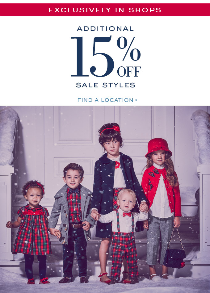 e444786a3f60 Janie and Jack: In Shop Exclusive: Additional 15% Off Sale | Milled