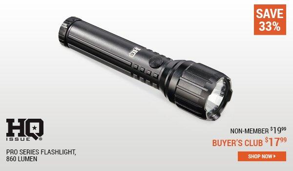 HQ ISSUE Pro Series Flashlight, 860 Lumen
