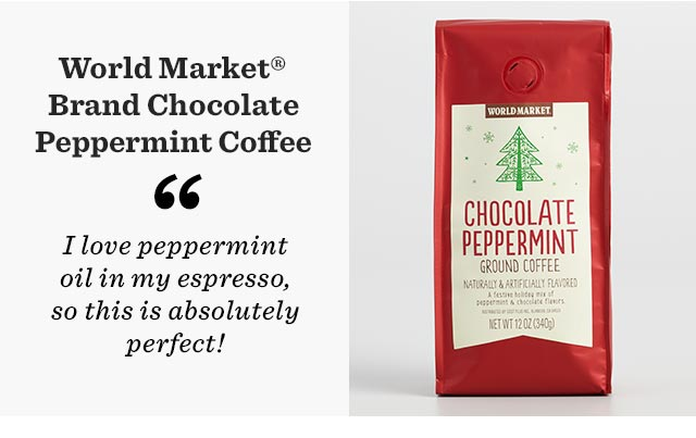 World Market Brand Chocolate Peppermint Coffee