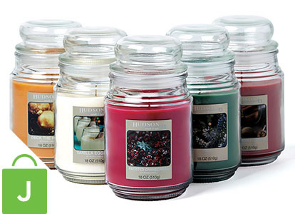 Hudson 43 Holiday Scented Candles.