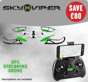 Sky Viper Streaming Drone with GPS