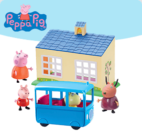 Peppa Pig School and School Bus Play Set