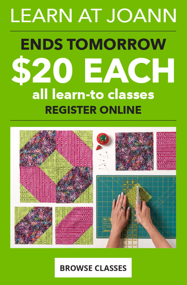 Ends Tomorrow! All Learn-To Classes only $20 each. Register online. BROWSE CLASSES.
