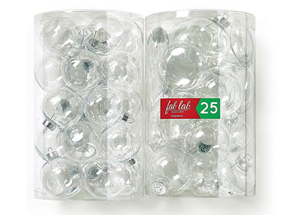 Clear Ornament Tubes.