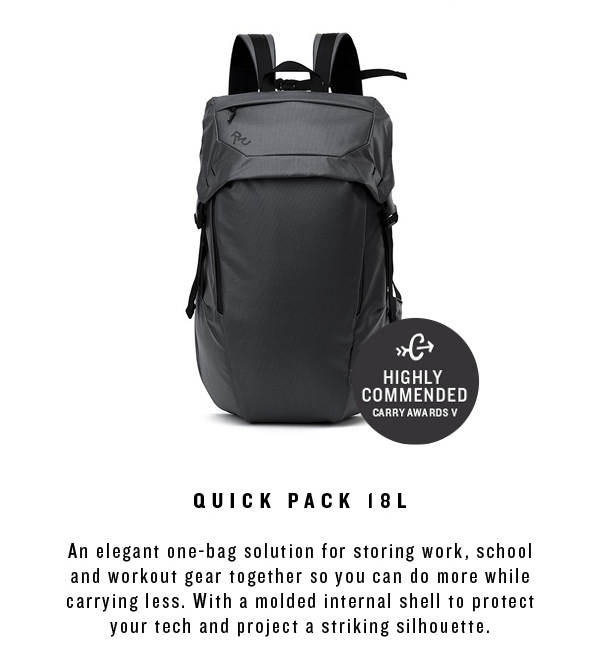 a1b806b42d8 RYU  Tailored for your life  The RYU Quick Pack 18L