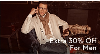 Extra 30% Off for Men