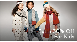 Extra 30% Off for Kids