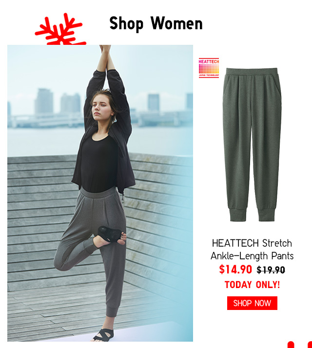 Shop Women - HEATTECH Stretch Ankle-Length Pants $14.90 TODAY ONLY! - Shop Now