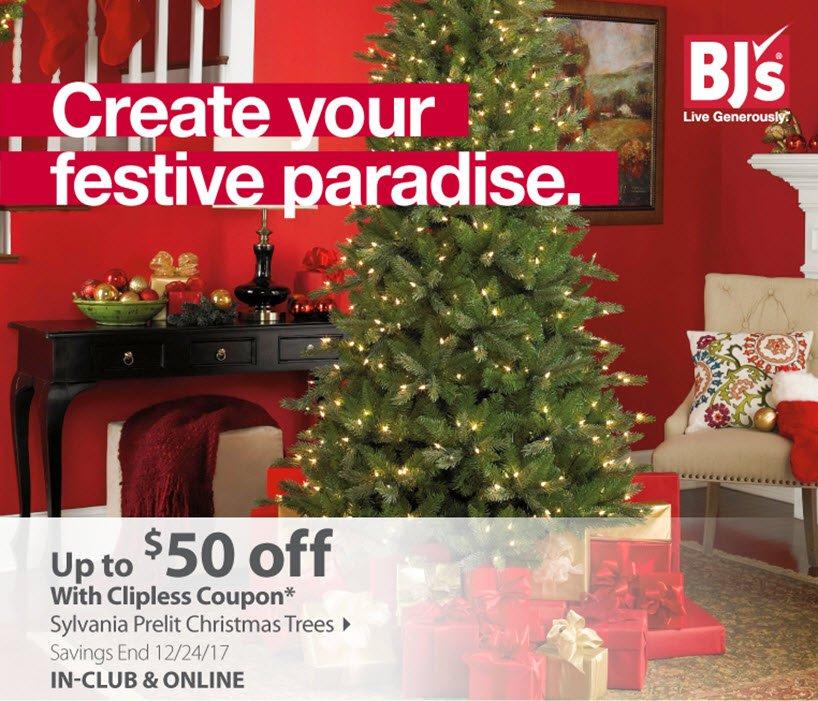 Sylvania Prelit Christmas Trees