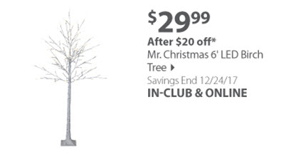 Mr. Christmas 6' LED Birch Tree
