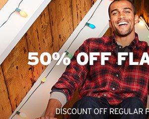 50% OFF FLANNEL SHIRTS | SHOP MEN'S FLANNEL